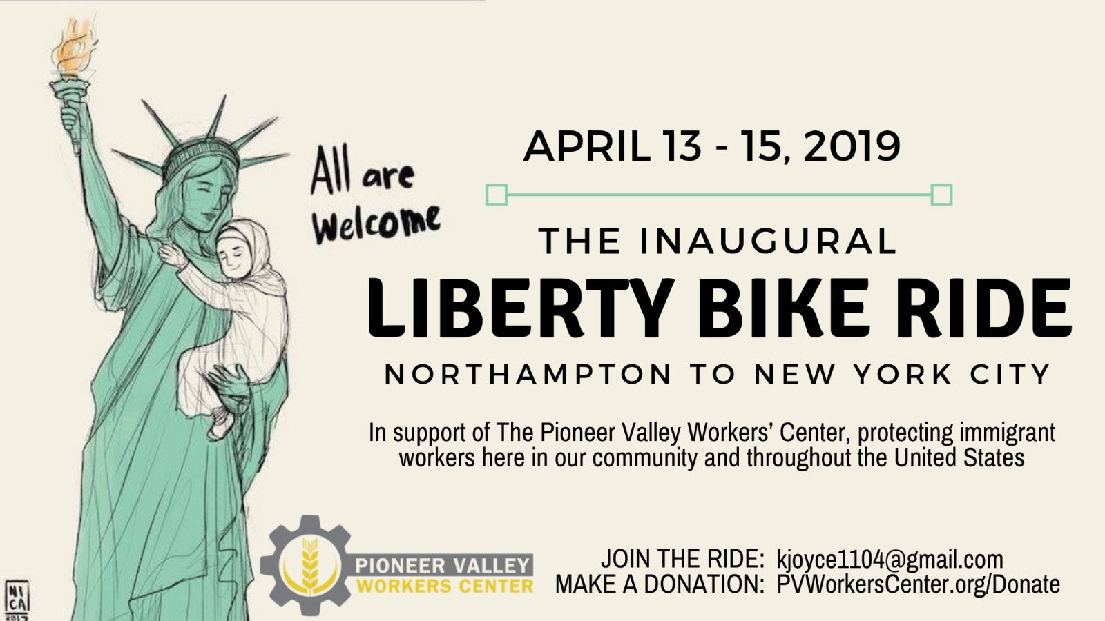 Inaugural Liberty Bike Ride banner